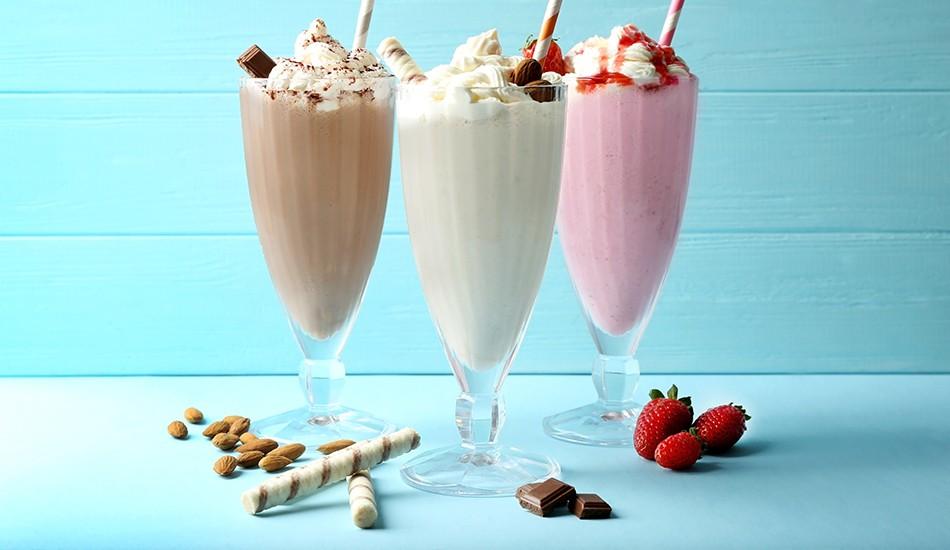 Рецепт молочного вкусного и густого коктейля