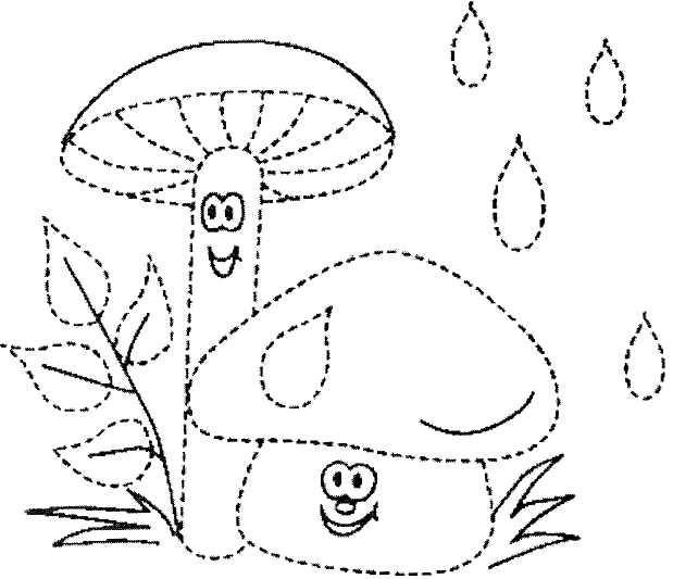Картинки осень для детей раскраски обводки