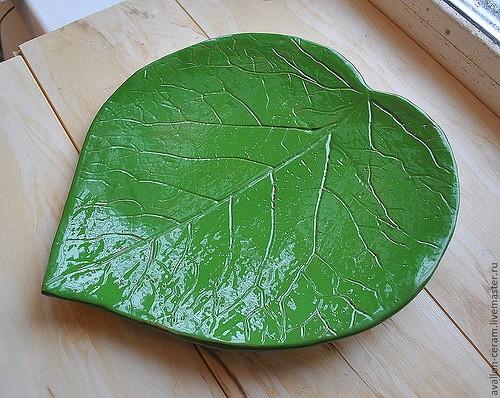 Как сделать шикарную тарелку из листа