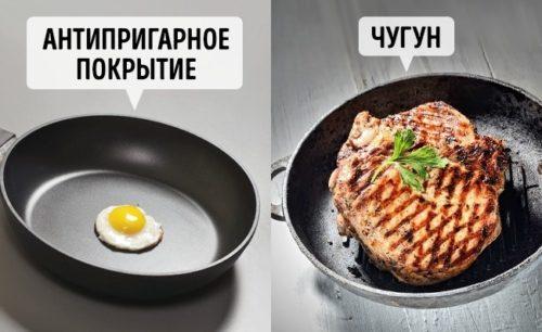 Жарить мясо насковороде сантипригарным покрытием