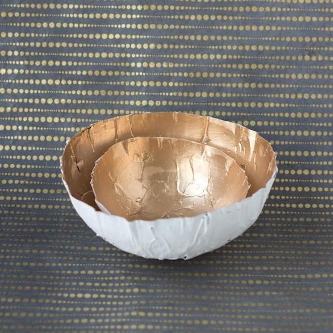 Делаем тарелку из папье-маше