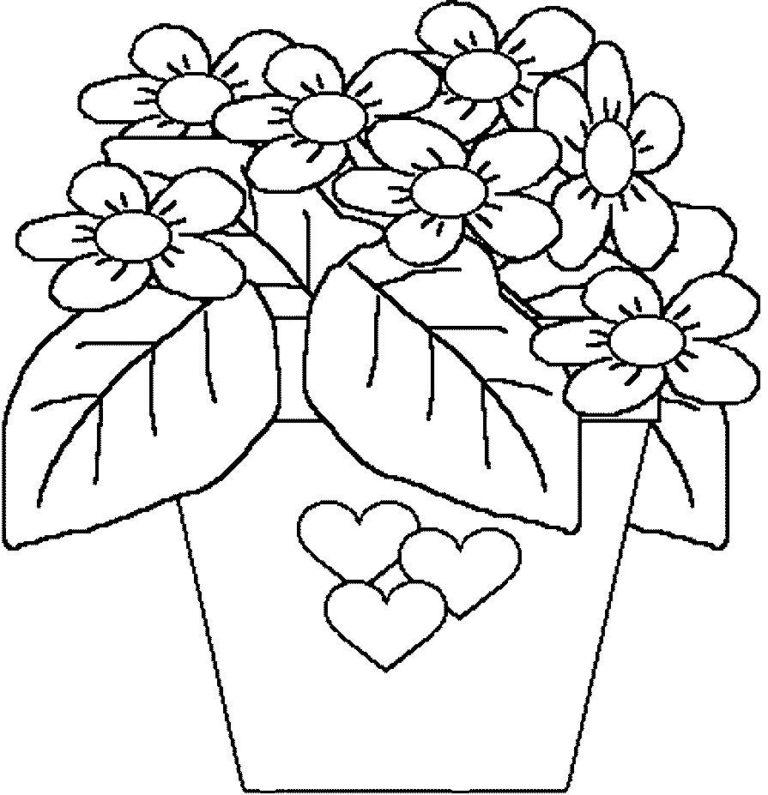 Шутка, раскрасить открытку с цветами
