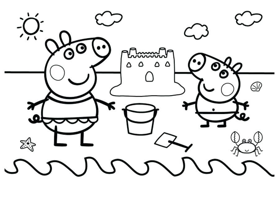 Картинки свинка пеппа раскраска распечатать, днем рождения самира
