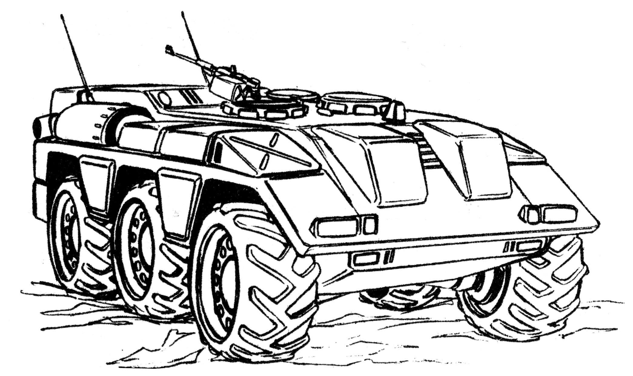 Раскраски для мальчиков военная техника, февраля