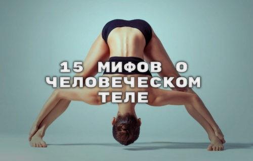 15 мифов о человеческом теле