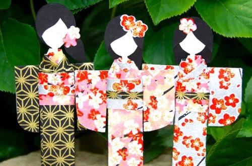 Японская кукла из бумаги своими руками, она же закладка для книги