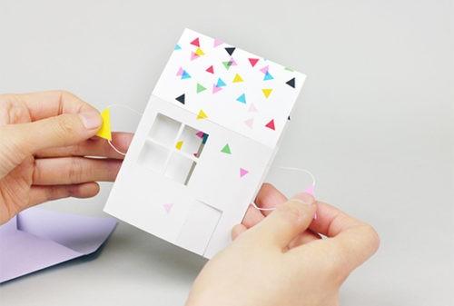 Объемная открытка своими руками – бумажный домик