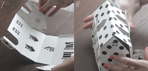 Макет домика из бумаги