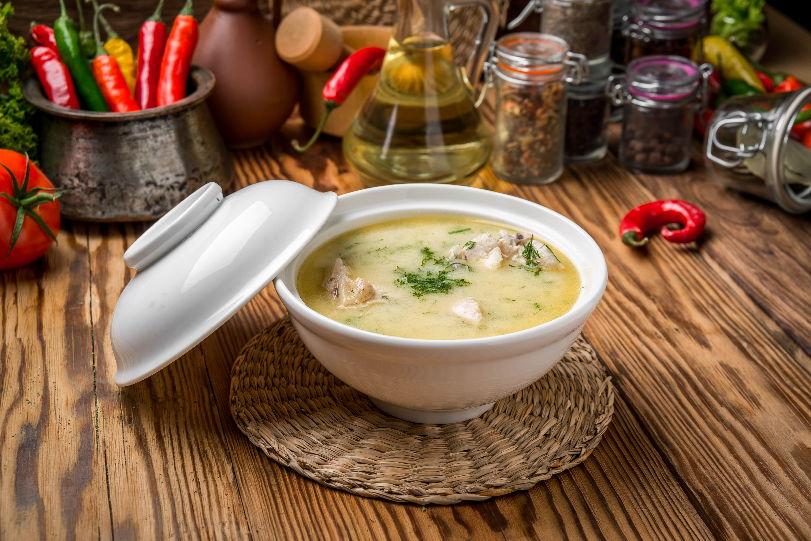 Суп из курицы и плавленного сыра