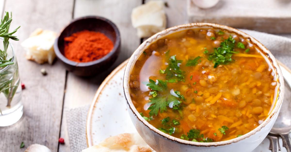 Суп с чечевицей в мультиварке