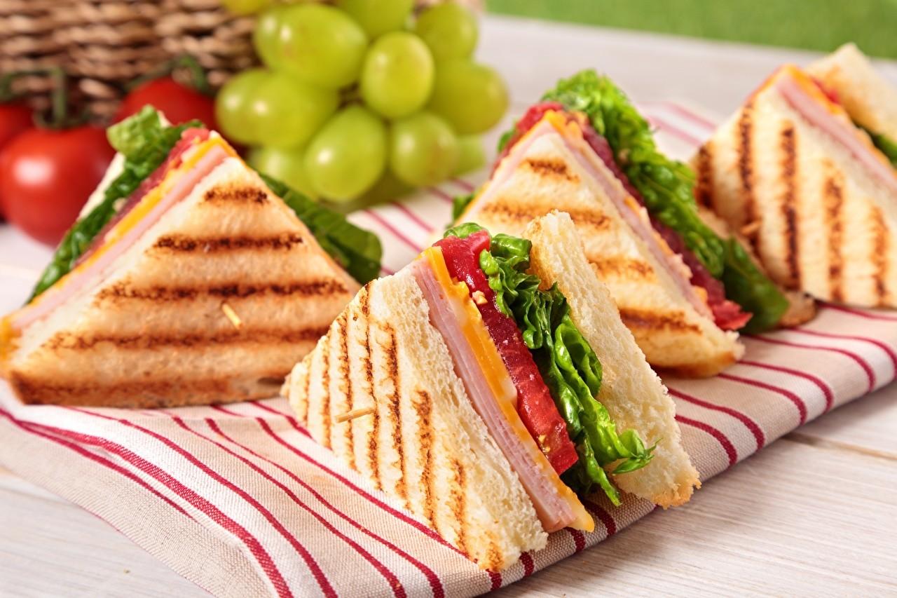 Клаб-сэндвичи с кисло-сладким соусом