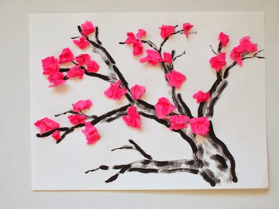 Аппликация Деревья в цвету