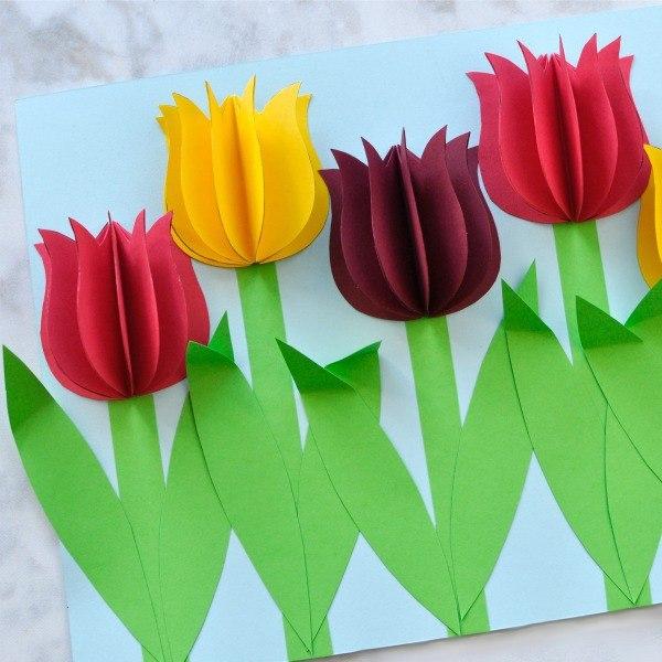 Объемная аппликация Тюльпаны