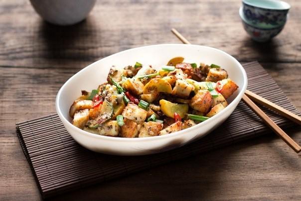 Жаркое с овощами и сыром тофу