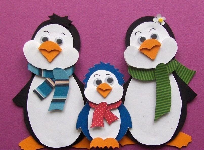 3-D аппликация Пингвины