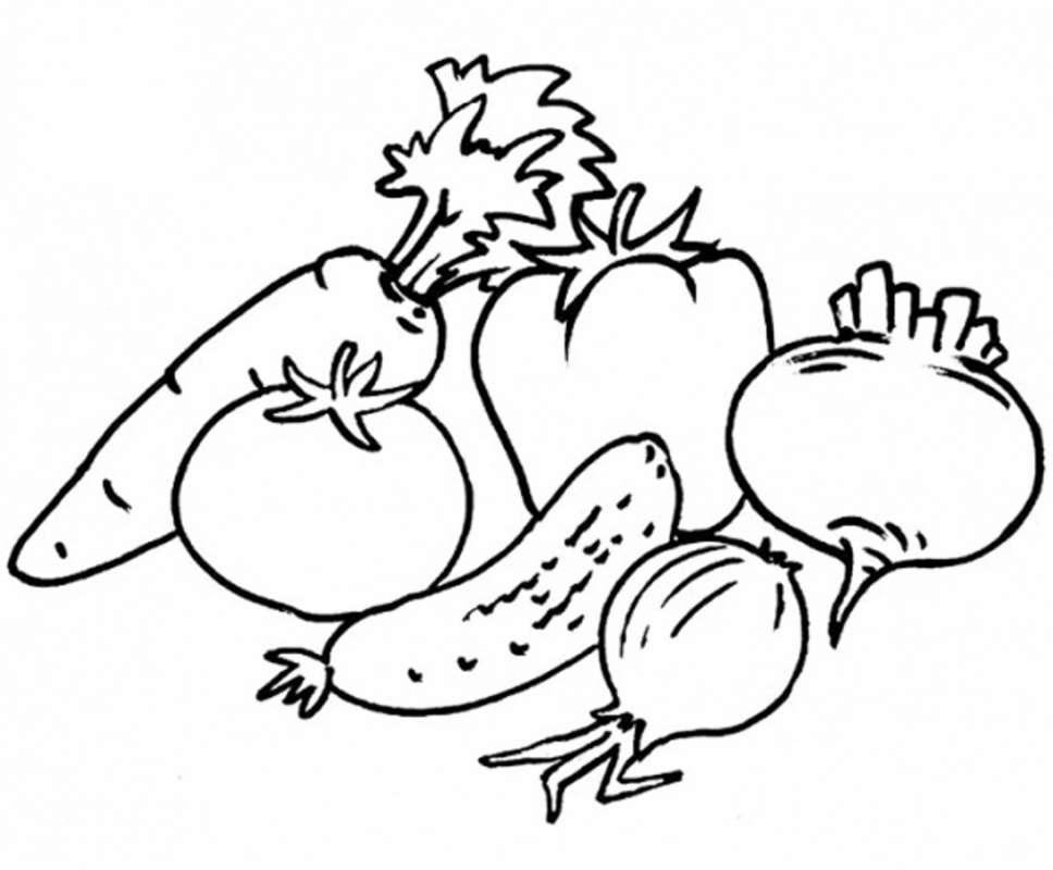 Раскраски для маленьких Овощи