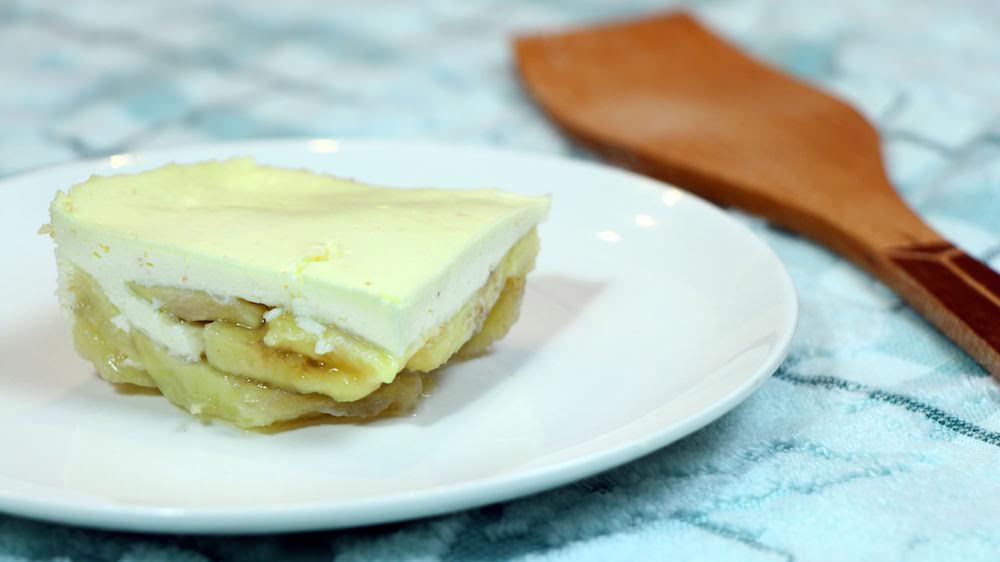 Печёные бананы с творогом и йогуртом
