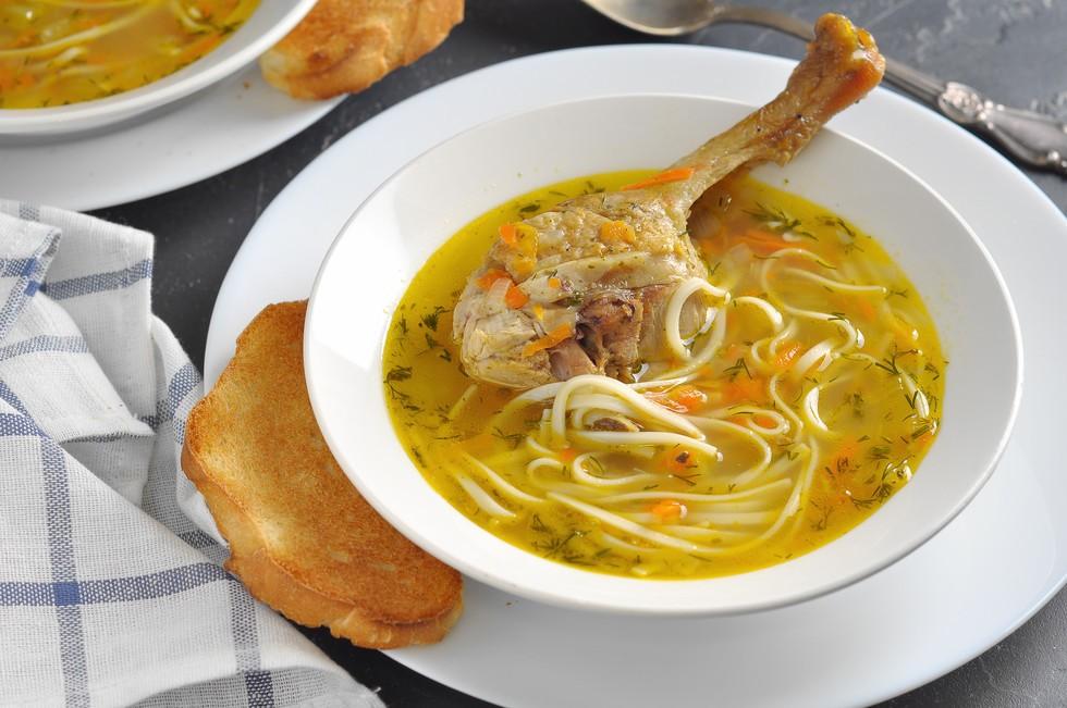 Классический рецепт супа из утки с вермишелью