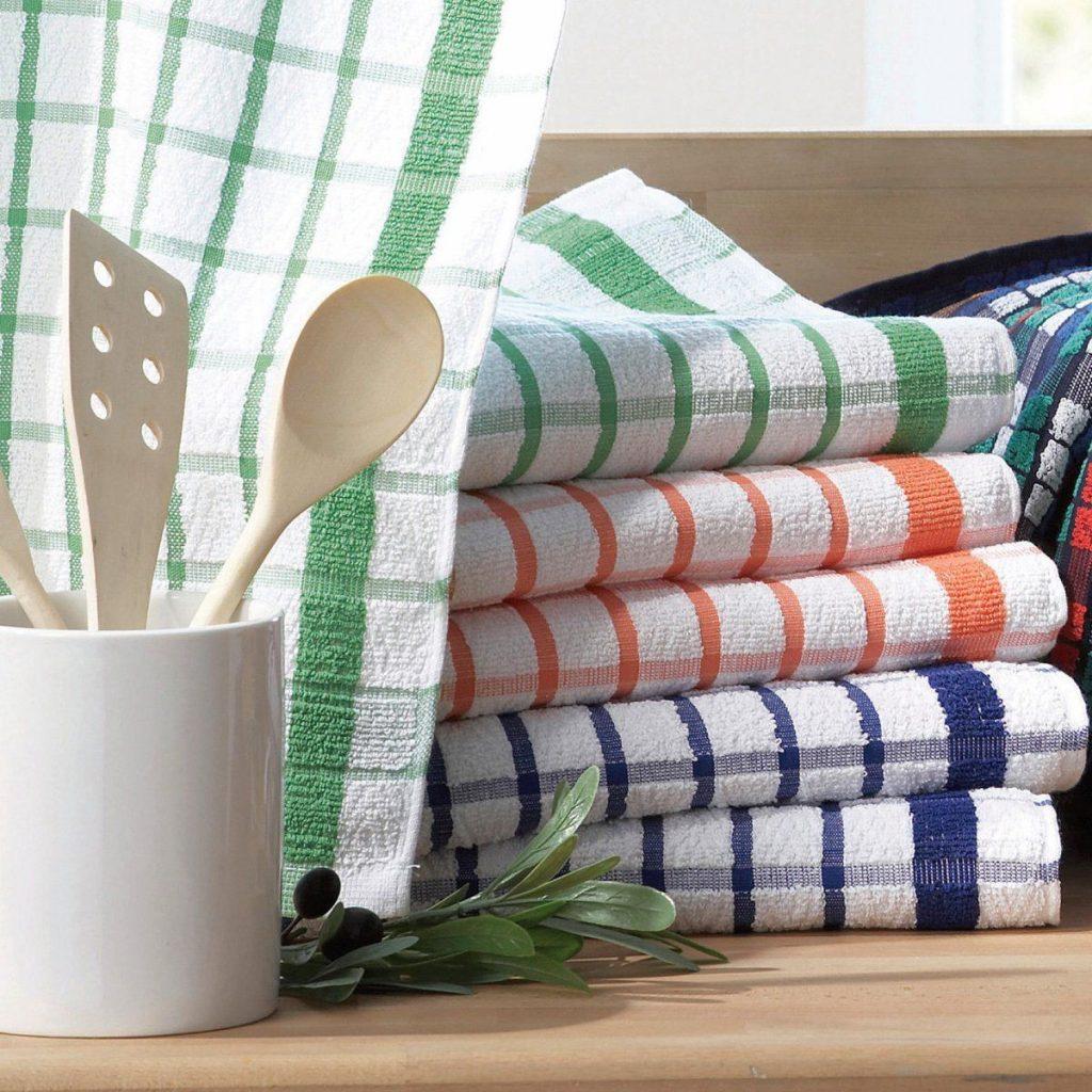 Как отстирать кухонные полотенца подручными средствами