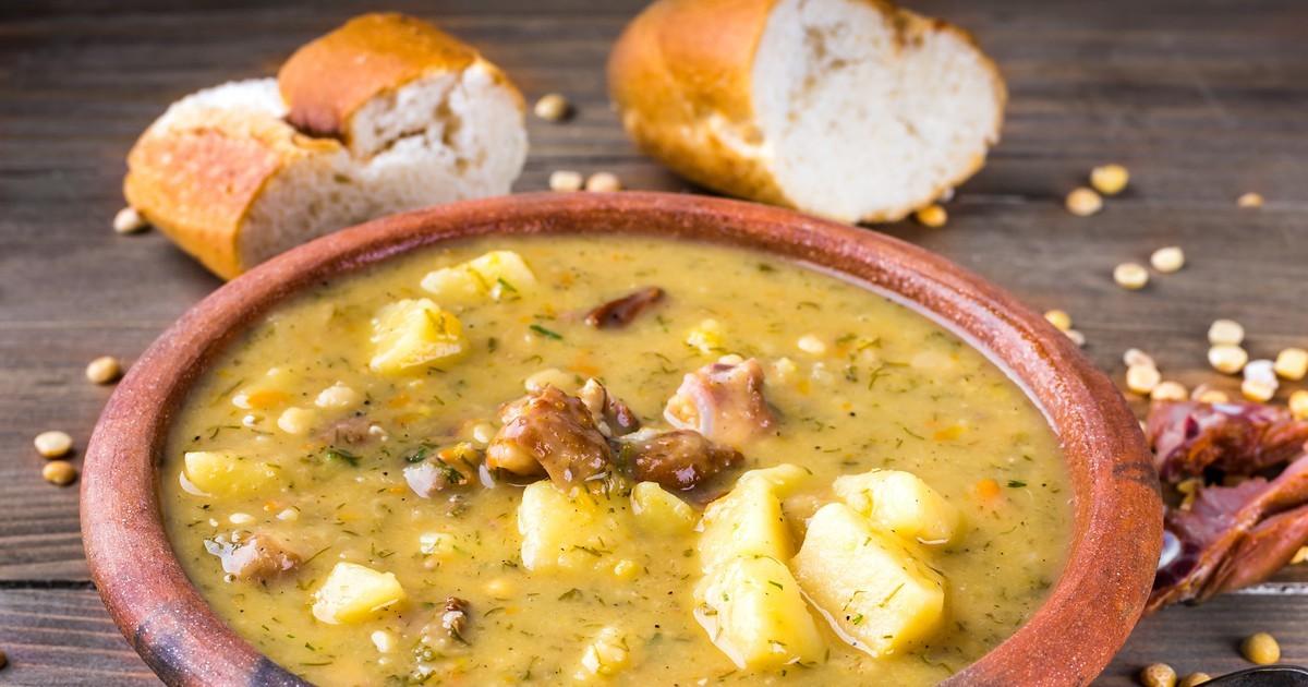 Суп из утки с горохом