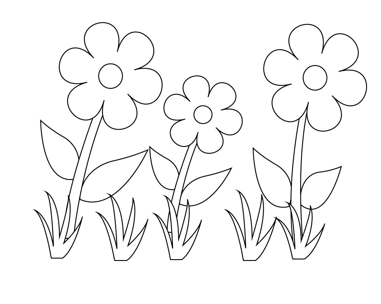 Раскраски для маленьких Цветочки