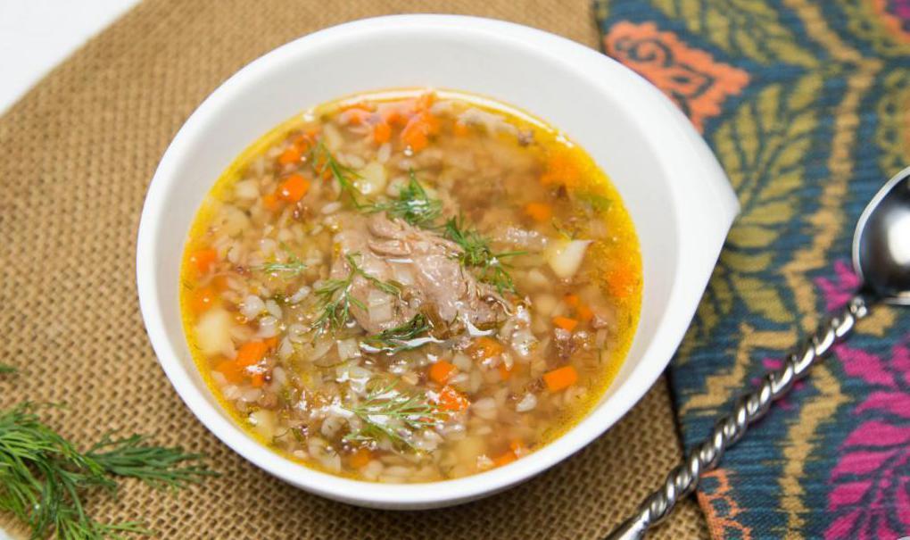 Суп из утки с гречневой крупой