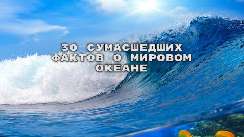 30 сумасшедших фактов о Мировом океане