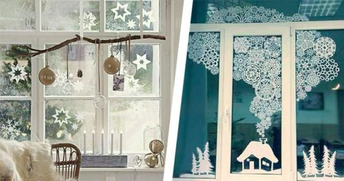 Украсьте окна поделками из бумаги