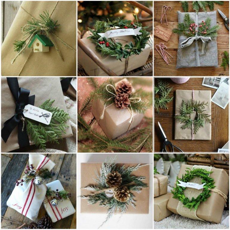 упаковать новогодние подарки