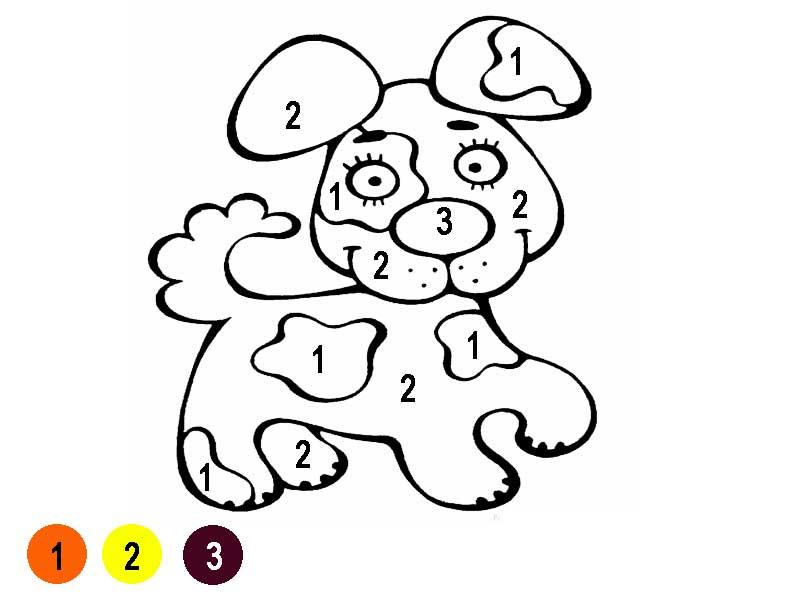 Раскраски по номерам для самых маленьких