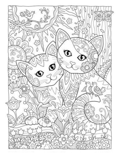 Раскраска антистресс коты