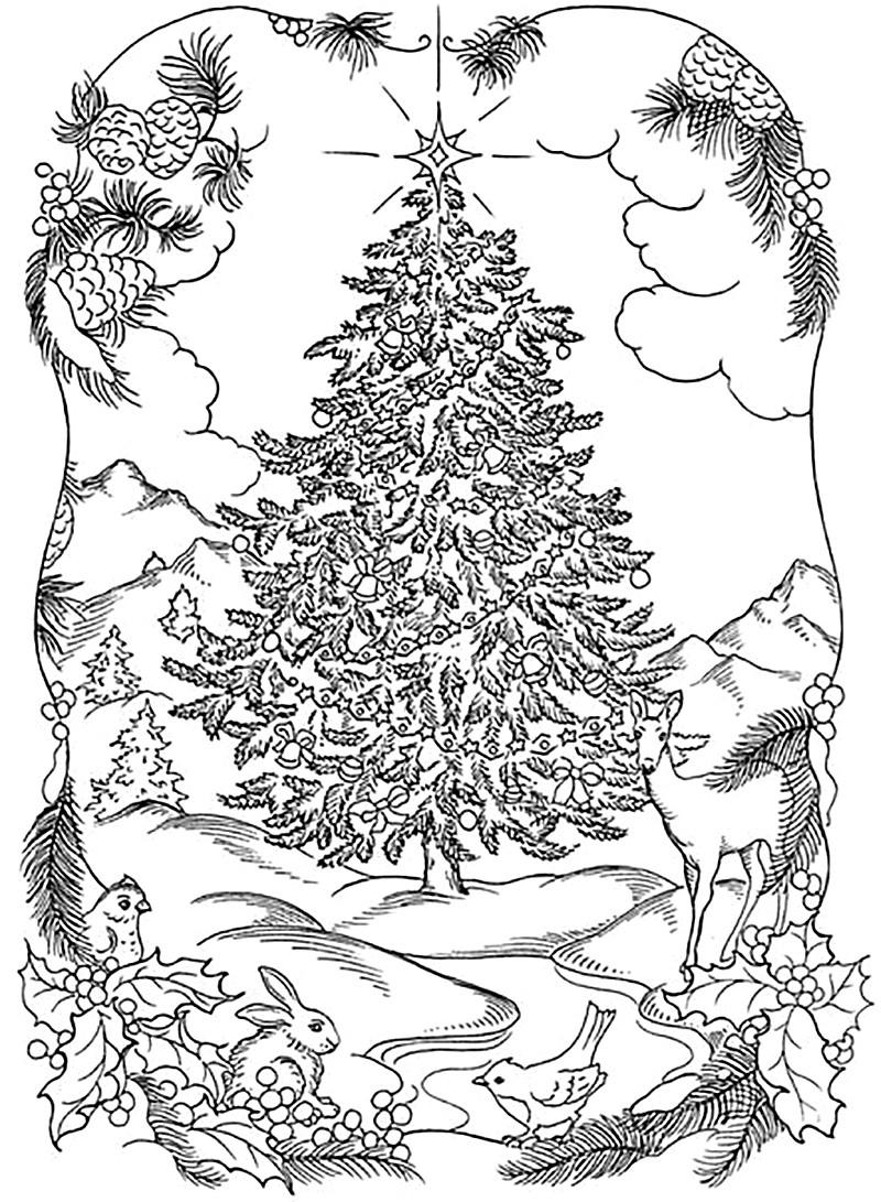 Раскраски антистресс новогодние - Veronica