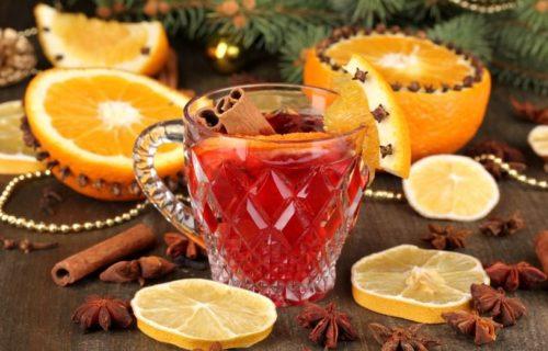 Глинтвейн с апельсинами и медом
