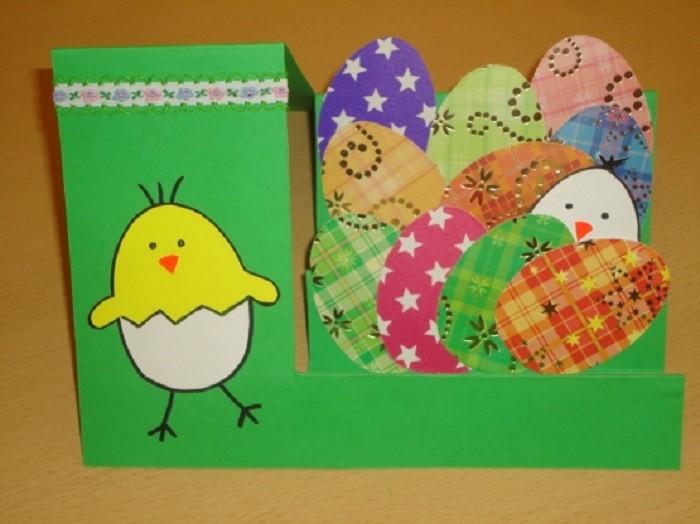 Детская пасхальная открытка