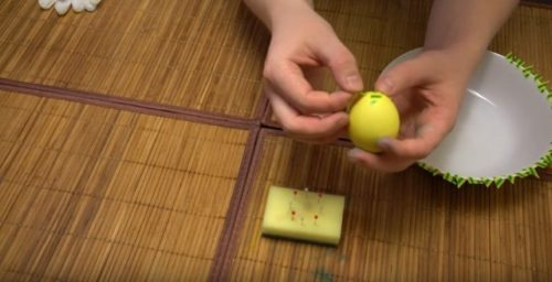 Мозаичная раскраска пасхального яйца 2 способа