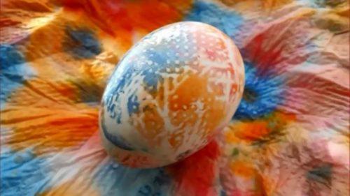 Радужное яичко 1 способ