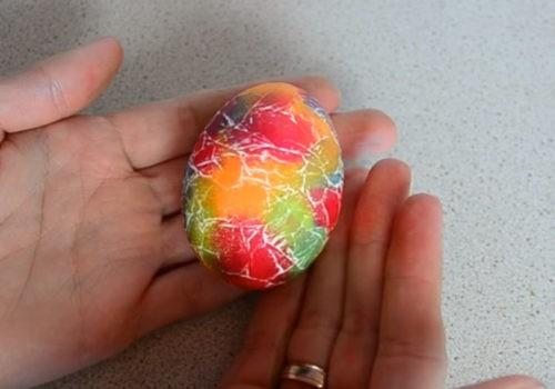 Радужное яичко 2 способ