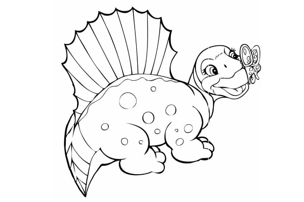 Динозаврик картинки для раскрашивания