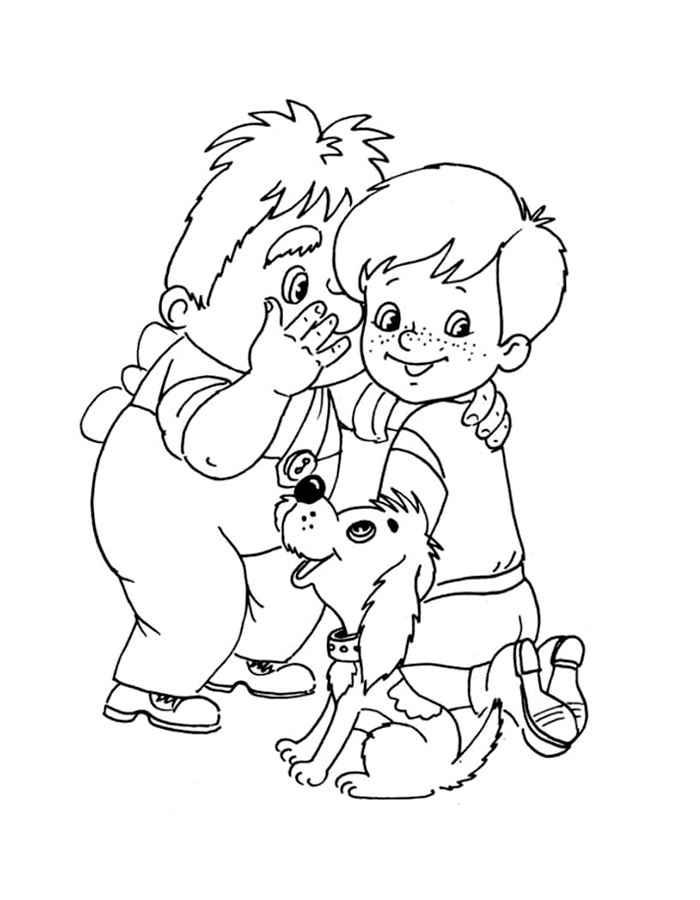 Картинки для раскраски карлсон и малыш