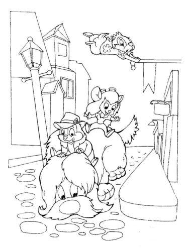 Раскраски Чип и Дейл спешат на помощь
