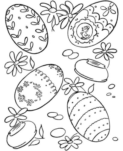 Раскраски Пасхальные яйца
