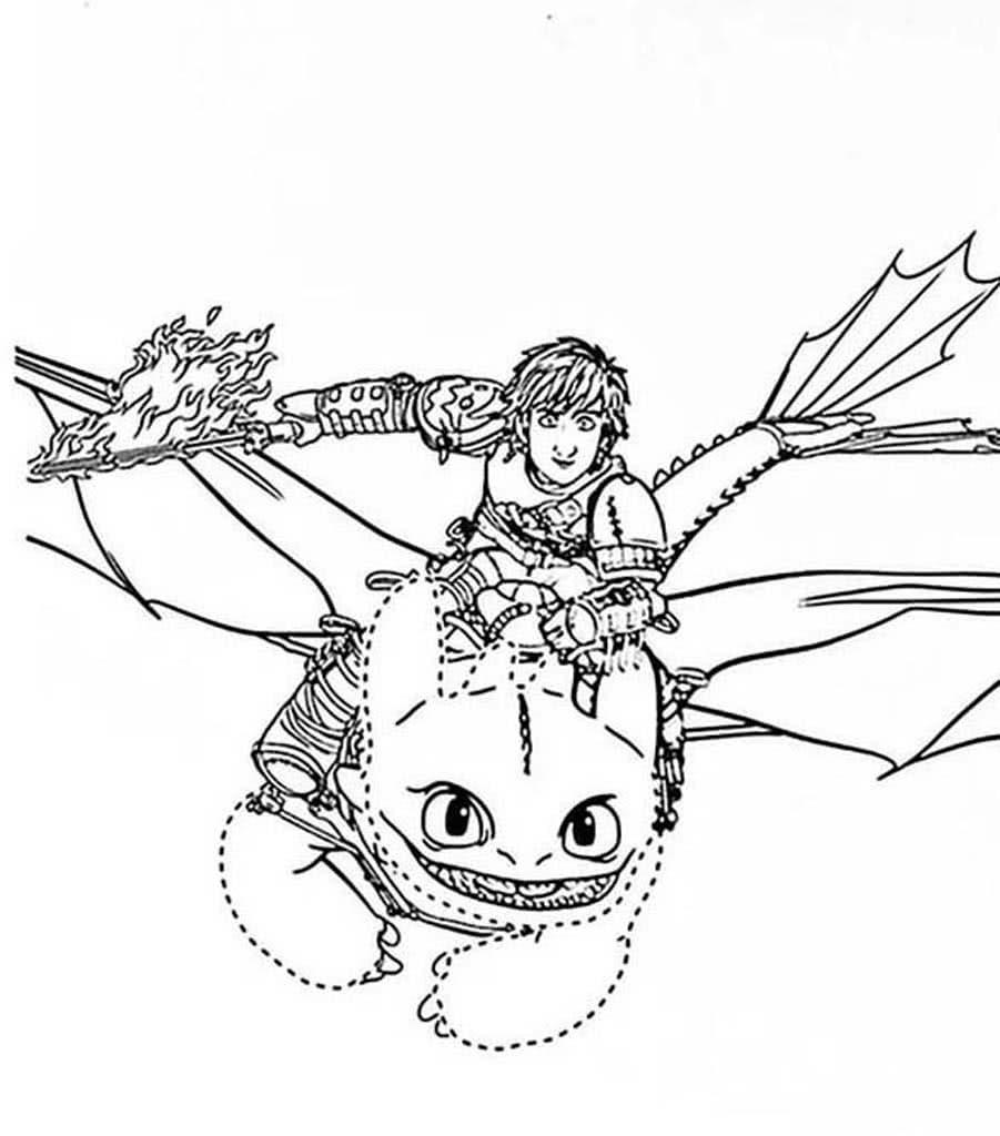 приручить дракона картинки раскраски существует три
