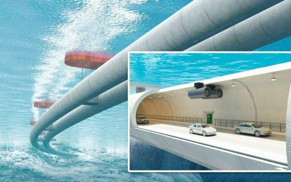 Подводный плавучий туннель