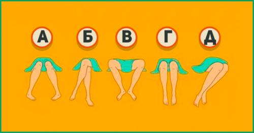 Как вы держите ноги, когда сидите