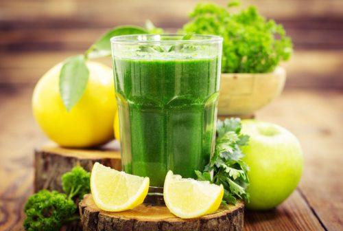 дитокс лимон, петрушка, сельдерей